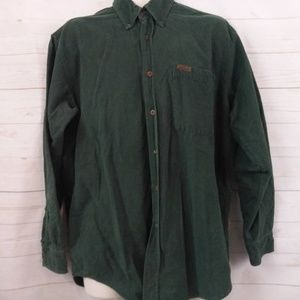 Woolrich Green Button Up Corduroy Long Sleeve LG